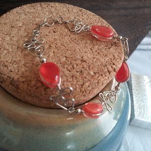 Peruvian Orange Stone Bracelet